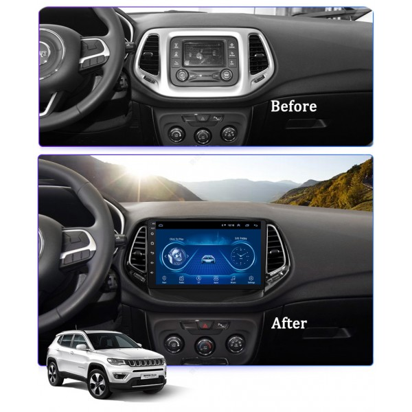 Jeep Compass 2017 - 2019 10.1 Inch Android Satnav ...
