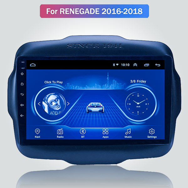 Jeep Renegade 2016 - 2018 10.1 Inch Android Satnav...