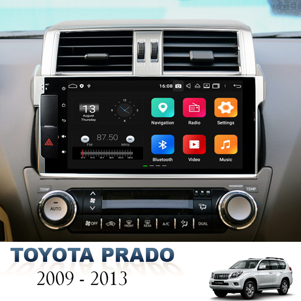 Toyota Prado 150 Series 2009 - 2013 8 Inch Android...