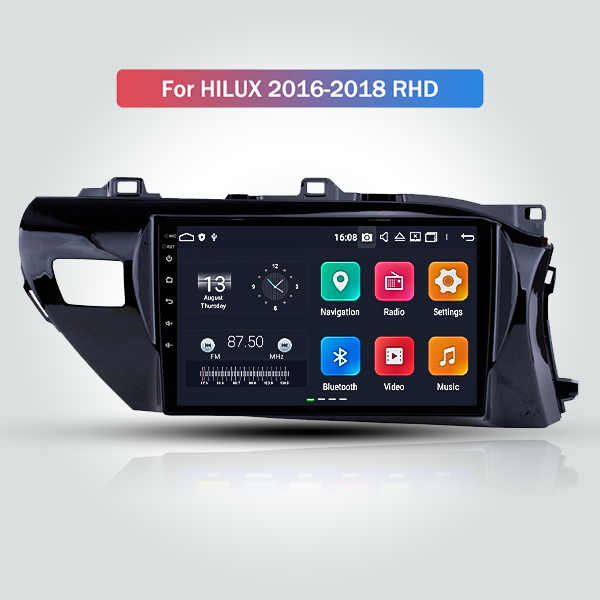 Toyota Hilux 2018 - 2021 10.1 Inch Android Satnav Radio Car Audio Sound System